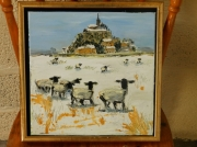 tableau paysages mouton mont st michel maree voyage : MONT SAINT MICHEL