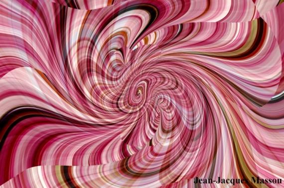 ART NUMéRIQUE abstrait art numérique tourbillon spirales Abstrait  - VERTIGE 3