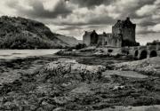 tableau paysages photo dessin paysage chateau : EILEAN DONAN CASTLE 1