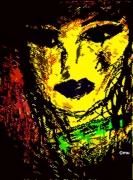 mixte personnages portrait femme : Femme Jaune