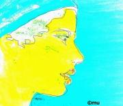 mixte personnages femme : Femme bleue