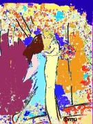 """art numerique personnages mariage numerique : """"Les mariés """""""
