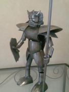 sculpture personnages acier personnages gladiateur oise : gladiateur du futur