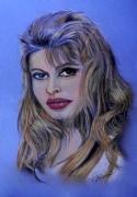 dessin personnages portrait pastel actrice : BB
