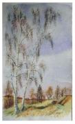 tableau paysages arbre bouleau : bouleaux