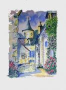 tableau paysages village maison : salers