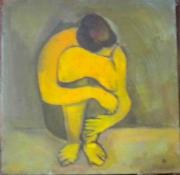 tableau personnages le soir 1998 grigor nalband : Le soir