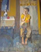 tableau personnages le garcon 1983 grigor nalband : Le soir