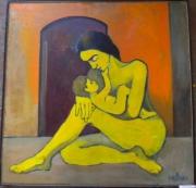 tableau personnages la maternite 1997 grigor nalband : La maternité