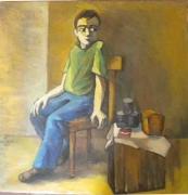 tableau personnages le garcon 1987 grigor nalband : Le garçon
