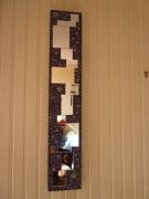 autres abstrait noir miroir : Miroir fractionné noir