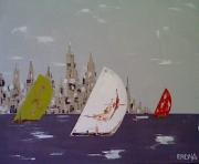 painting villes : New York , ville voilée.. voilée