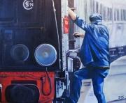 tableau personnages sncf chemin de fer train ,a vapeur locomotive : Carré ouvert ligne Bastille