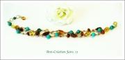 bijoux bracelet ambre turqu bijoux ambre ann creation ambre baltic turquoi : Bracelet Ambre et Turquoise