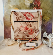 art textile mode fleurs petit sac bandouliere petit sac coton petit sac tissu petit sac fleurs : Petit sac bandoulière double ouverture, tissu coton denim fleuri