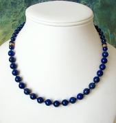 bijoux lapis lazuli ann creation collier bleu pierre bleue : Collier Lapis Plaqué Or