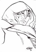 dessin personnages visage gerrier combattant personnage : Le visage du hère