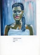 tableau personnages femme couleurs exotisme brune : FEMME DE COULEURS