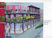 tableau paysages rue immeuble nouvelle orleans quartier francais : QUARTIER FRANCAIS