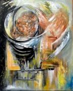 tableau abstrait prison cercle delivrance : LIBERATION