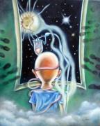 tableau autres surrealiste symbolist esoterique : Délirium
