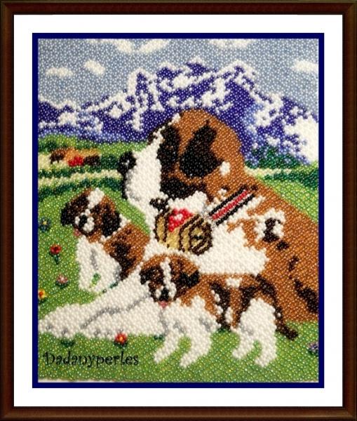AUTRES Animaux  - patron chien st-bernard
