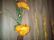 tableau fleurs orange fleurs design : l or des fleurs