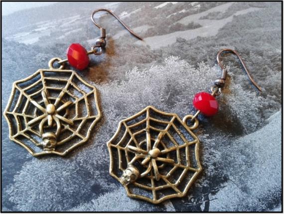 BIJOUX tendance mode moderne bijoux Animaux  - Boucle d'oreille spider red