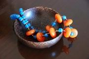 bijoux marine tendance mode ethnique simple : Collier Soledad