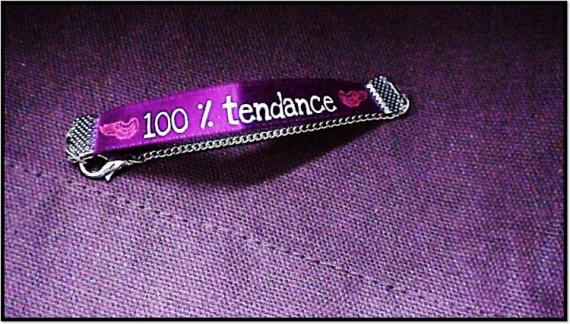 BIJOUX tendance mode unique chic Villes  - Bracelet message : 100% Tendance