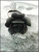 bijoux fleurs tendance mode moderne chic : La bague Black lady