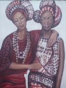 tableau personnages femmes afrique : Aïda et Alina