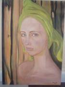 tableau personnages femme bandeau bain portrait : Amélie