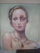 tableau personnages femme bijoux portrait charme : Amarige