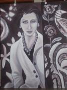 tableau personnages femme mode portrait : Adelaïde