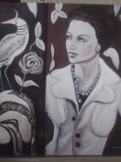 tableau personnages femme mode portrait : Adeline
