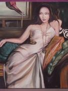 tableau personnages femme portrait bijou : Amaya