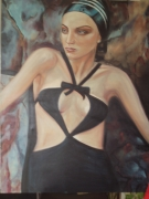 tableau personnages femme portrait : Aurélia