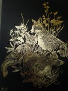 autres animaux le renard et ces petits renardos : filou le renard