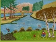 dessin ,a la campagnne verte : a la campagne
