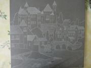 artisanat dart paysages gravure sur carrelage : gravurio