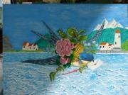 tableau hirondelle du printemps bleu : courier de l'hirondelle
