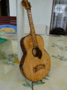 bois marqueterie autres guitare cagette de mandarine : guitatare
