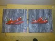 tableau fruits piment rouge cuisine legume : piments rouges