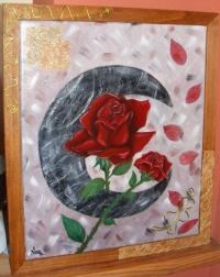 Lune noir & Rose Rouge
