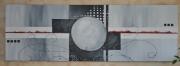 tableau abstrait gris blanc abtrait contemporain : luna