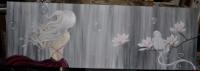 fille du vent perroquet sur magnolia