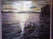 tableau paysages : soleil couchant