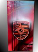 tableau sport tableau porsche peinture porsche toile porsche peinture sur toile : Tableau Porsche logo neuf
