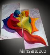 tableau fleurs tableaux abstraits tableaux moderne tableau contemporain tableau design : Tableau abstrait moderne